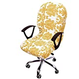 Huaide Fitted Chair Covers Washable Removable For Office Rotating Swivel Computer Armrest Chair Slipcovers