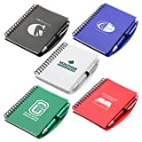 100 Personalized Hardcover Notebook & Pen Set Printed With Your Logo Or Message