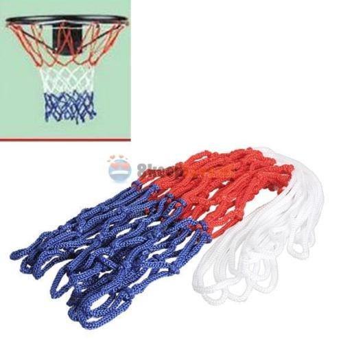 MIJORA-Basketball Net Red White Blue All Weather Hoop Goal Rim Indoor Outdoor 5mm Nylon