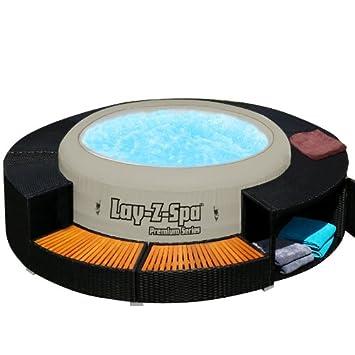 Xxl Whirlpool Umrandung Polyrattan Pool Rahmen Verkleidung