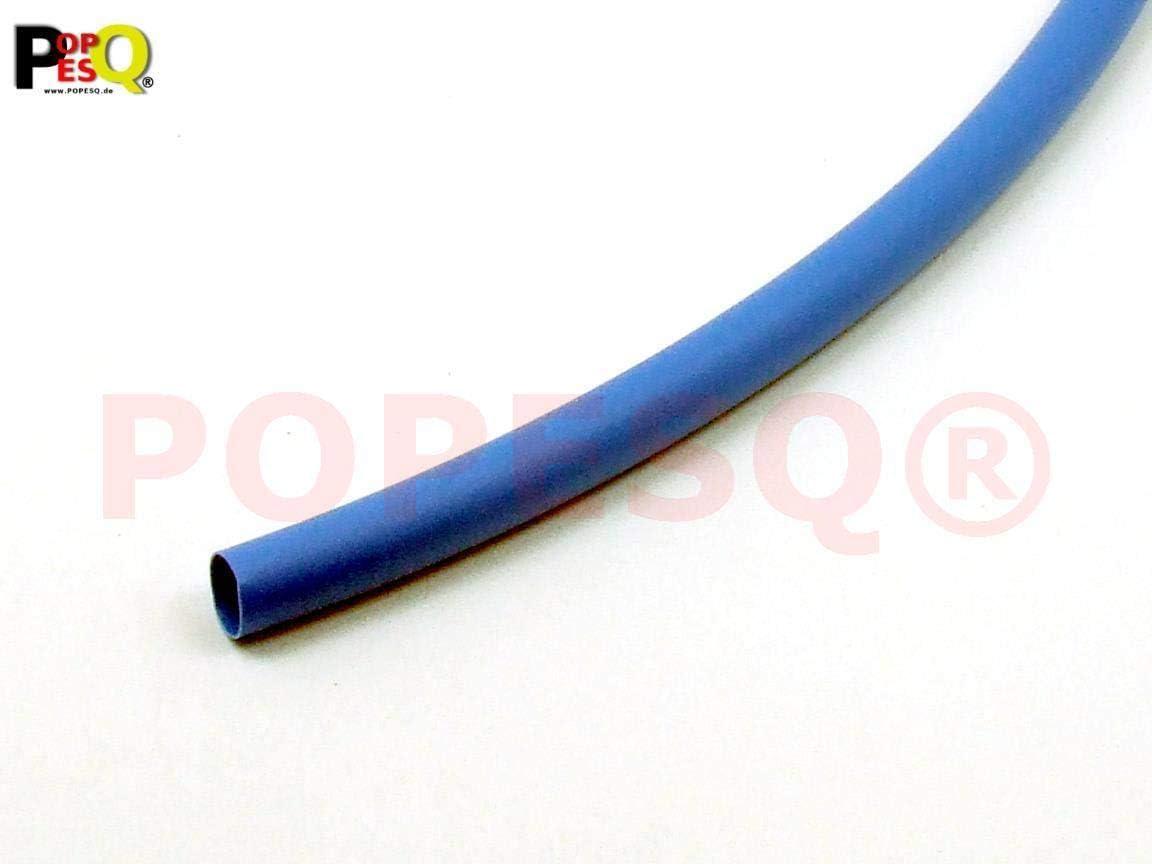 POPESQ/® 1 m x Tube thermor/étractable 9.5mm 2:1 Bleu #A2761