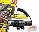 Nitecore MH12 1000 Lumens Cree XM-L2 Rechargeable LED Tactical Flashlight with Tube Rail Mount