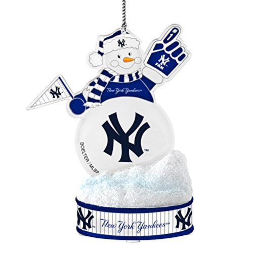 MLB New York Yankees LED Snowman Ornament
