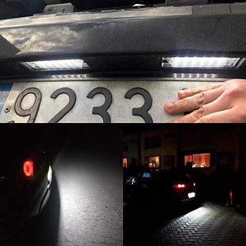 Alician f/ür Alfa Romeo 147 156 159 166 Giulietta Mito GT Spider MiTo LED-Kennzeichenbeleuchtung Auto-Artikel
