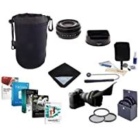 Fujifilm XF 18mm F/2.0 Lens - Bundle with 52mm Filter Kit, Lens Wrap, Cleaning Kit, Lens Case, CapLeash and Professional Software Package