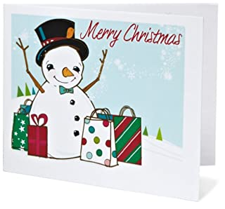 Amazon Gift Card - Print - Merry Christmas (Shopping Snowman) (B004KNWX26) | Amazon price tracker / tracking, Amazon price history charts, Amazon price watches, Amazon price drop alerts