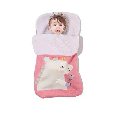 Bebé Swaddle Wrap - Manta para bebé recién Nacido con Patrón Lindo Unicornio para Saco de