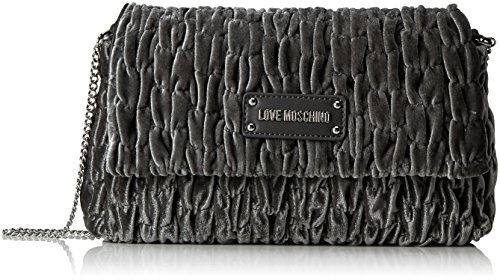Fabric Women's Cross Grau H Bag 17x28x5 Grey cm Love B x T Moschino Grigio Borsa Body xq1EIwApC