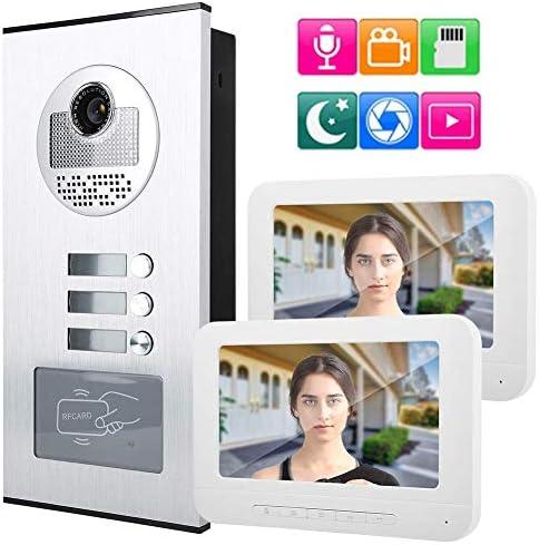 ドアベル、デジタルドアベル、7インチビデオインターホンドアベルビジュアルインターホン(ホームオフィスアパートメント用)(イギリス)