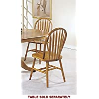 ACME 06344OAK Set of 4 Nostalgia Deluxe Arrow Back Windsor Chair, Oak Finish