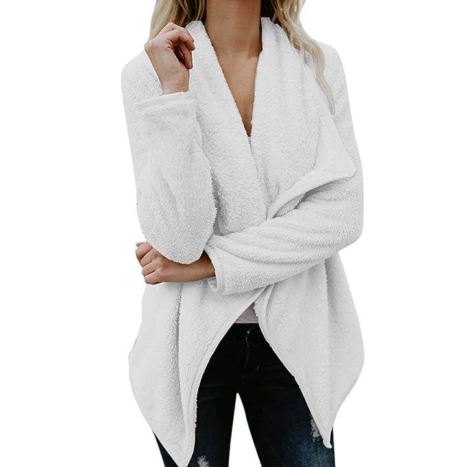 Chaqueta De Las Señoras De Punto Cuddly Embarazo Cardigan Open Fleece Chaqueta Teddy Winter Abrigo Cálido Sudadera Fleece Outwear: Amazon.es: Ropa y ...