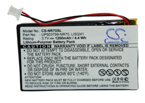 Cameron Sino Li-Polymer 3.70V 1200mAh PDA Replacement Battery Compatible With Sony LISI241, Fits Sony Clie PEG-NR60/Clie PEG-NX60/Clie PEG-SJ33/Clie PEG-TH55/Clie (Sony Pda Battery)