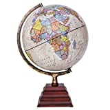 Waypoint Geographic Peninsula Illuminated 12'' Globe with Stand - Over 4, 000 Up-To-Date points of Interest - Pagoda Style Stand & Politically Styled World Globe for Home, Office & Classroom