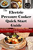 The Electric Pressure Cooker Quick Start Guide: Easy to Make Meals for the Instant Pot and Other Cookers (Andrea Silver Healthy Recipes Book 10)
