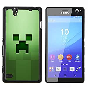 EJOOY---Cubierta de la caja de protección para la piel dura ** Sony Xperia C4 ** --Hierba Verde Squared objeto de equipo