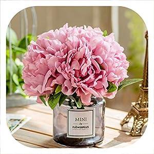 Memoirs- Artificial Silk Flower for Home Wedding Decor 5pcs/Branch Peony Fake Flower Birthday Party DIY Decorative Flower 14