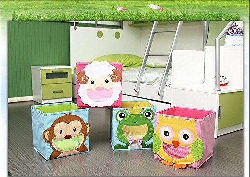 2019 New Wardrobe Kids Organizer Bins Box For Toys: Cartoon Children Toys Chest And Closet Organizer