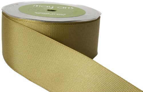 May Arts 3/4-Inch Wide Ribbon, Olive Grosgrain by May Arts