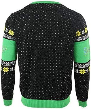 Christmas Jumper Portal Get Schwifty Logo 公式 ブラック Knitted
