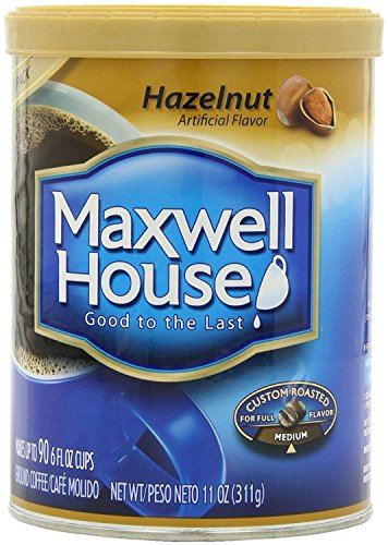Maxwell House Hazelnut Ground Coffee, 11-Ounce Cannister -