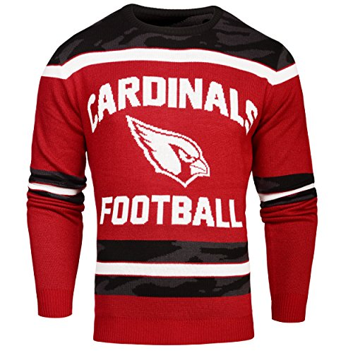 FOCO Arizona Cardinals Ugly Glow In The Dark Sweater - Mens - Mens Extra Large by FOCO