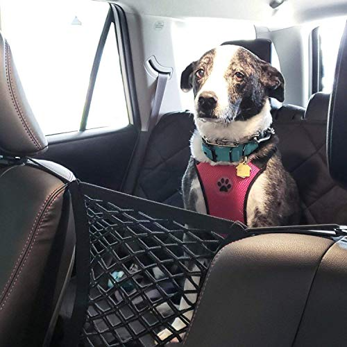 AUTOWN-Car-Dog-Barrier-Auto-Seat-Net-Organizer-Universal-Stretchy-Car-Seat-Storage-Mesh-Mesh-Cargo-Net-Hook-Pouch-Holder-Disturbing-Stopper-from-Children-and-Pets-as-Car-Backseat-Barrier-Net