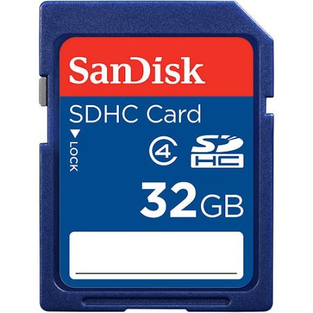 Picture of a SanDisk 32GB Class 4 SD 77344725104