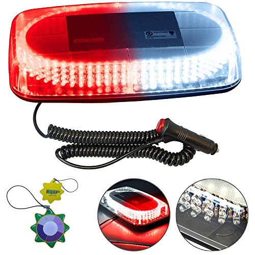 HQRP Red / White Vehicle Car Truck Emergency Hazard Warning 240 LED Mini Bar Strobe Flash Light + HQRP UV Meter (Hqrp Car)