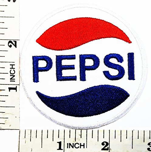 [Pepsi logo Patch Symbol Jacket T-shirt Patch Sew Iron on Embroidered Sign Badge Costume] (Log Costume)