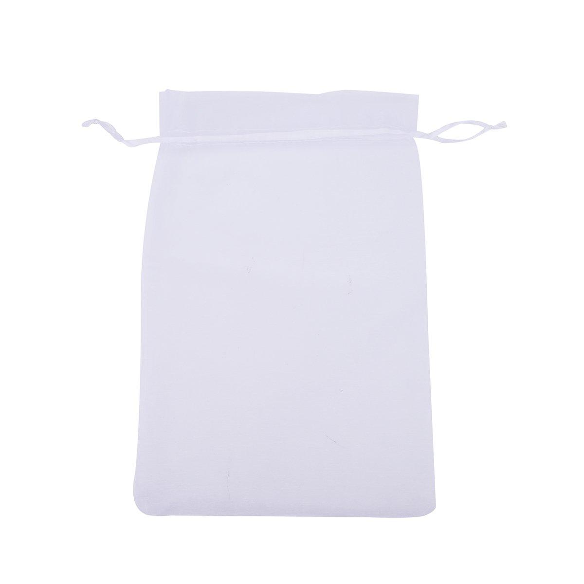 Bolsas de organza con cordón para regalo de boda y joyería, 50 unidades, tamaño grande, 20 x 30 cm