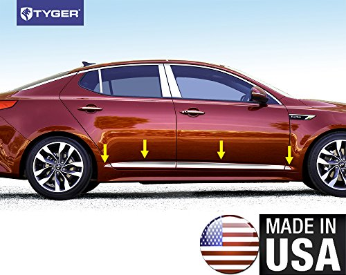 Made In USA! TYGER Body Lower Side Molding Trim Fit Kia 2011-2015 Optima 2.5'' Wide 8PC