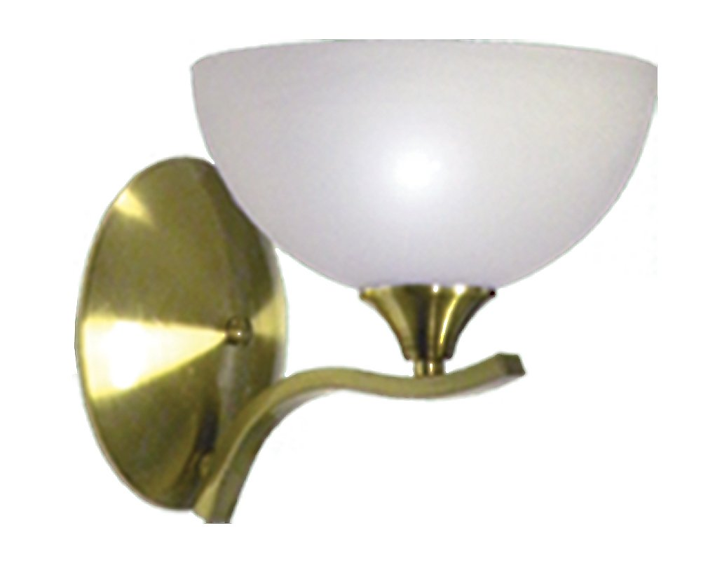 Satin Brass Marquis Lighting 8431-118-1-SBR Wall Sconce with Alabaster Glass Shades
