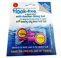 HOOK-EZE Fishing Gear Knot Tying Tool | Line Cutter | Cover Hooks on Fishing Poles Bass Kayak Ice Fishing