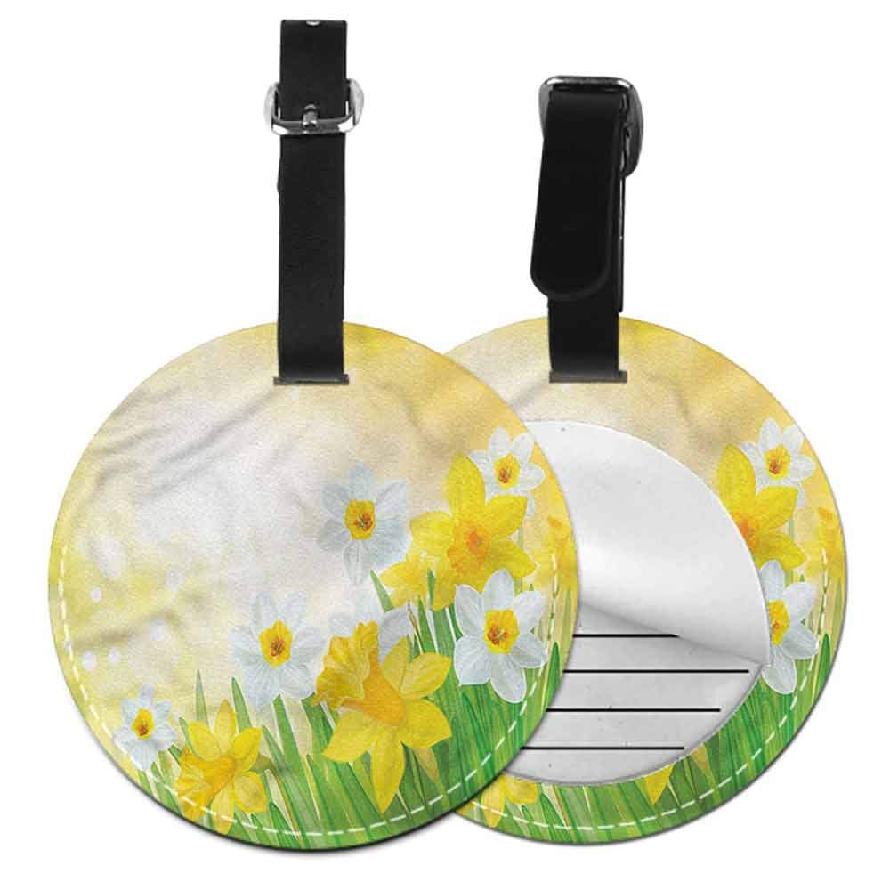 Women Luggage Tag Daffodil,Delicate Spring Plants Creative gifts