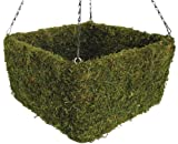 SuperMoss (29312) Preserved Moss Square Hanging Basket, Spring Green, Large