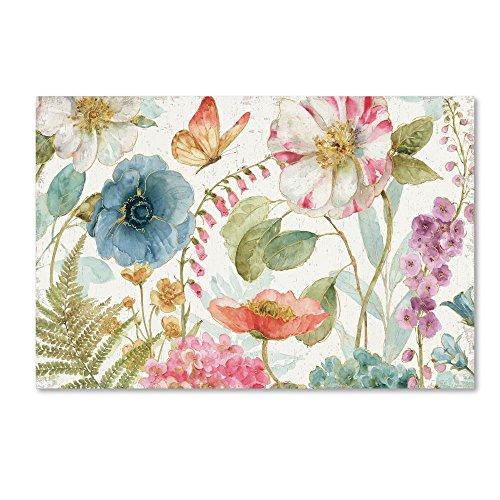 Rainbow Seeds Flowers I on Wood by Lisa Audit, 22x32-Inch Canvas Wall Art - Lisa Audit Rose