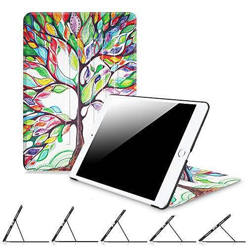 Fintie iPad 2017 9.7 Inch / iPad Air 2 / iPad Air Case - [Multiple Secure Angles] Slim Magnetic Kickstand Protective Cover with Auto Sleep / Wake for iPad 9.7 2017, iPad Air 2, iPad Air, Love Tree