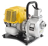 WASPPER PC107 Heavy-Duty & Portable Water Pump with 7500 l/hr Flow Rate, 35m Water Lift, 9000 RPM Petrol Engine and Included Accessories
