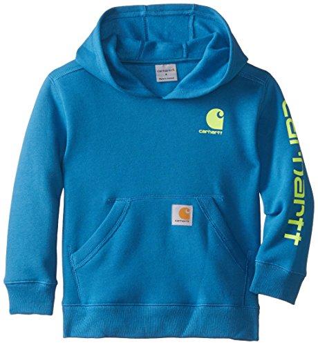 - Carhartt Little Boys' Graphic Fleece Hooded Sweatshirt, Deep Water, 5