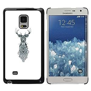 TopCaseStore / la caja del caucho duro de la cubierta de protección de la piel - Eyes White Eye Meaning - Samsung Galaxy Mega 5.8 9150 9152
