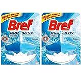 Bref WC DUO AKTIV Toilet Cleaner-Freshener 2Count (Ocean)