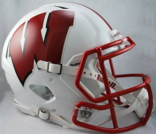 Riddell NCAA Wisconsin Badgers Authentic Speed Full Size Football Helmet (Riddell Wisconsin Badgers Replica Helmet)
