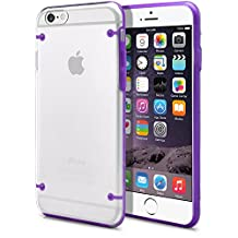 iPhone 6 Plus Case, MagicMobile® [Crystal Clear] Transparent [Ultra Slim] Thin Durable Hard Armor [Glow Series] Glowing Snap-On Cover For Apple iPhone 6 Plus (5.5) with Screen Protector / Purple
