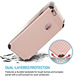 iPhone 6 Plus Case, iPhone 6s Plus Cover, Qadou Double Layer Defender Ultra Thin and Slim Shockproof Case, Availble in 6 Colors (Rose Gold)