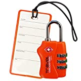 TSA Luggage Lock + Matching TAG   BRIGHT COLORS Help Easily Identify Your Luggage
