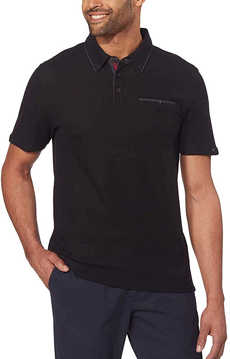 English Laundry Mens Honeycomb Pique Knit Polo