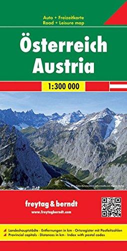 Österreich, Autokarte 1:300.000 (Westfalzung), freytag & berndt Auto + Freizeitkarten Landkarte – Folded Map, 10. April 2017 Freytag-Berndt und Artaria KG Österreich 3707915085 Karten / Stadtpläne / Europa