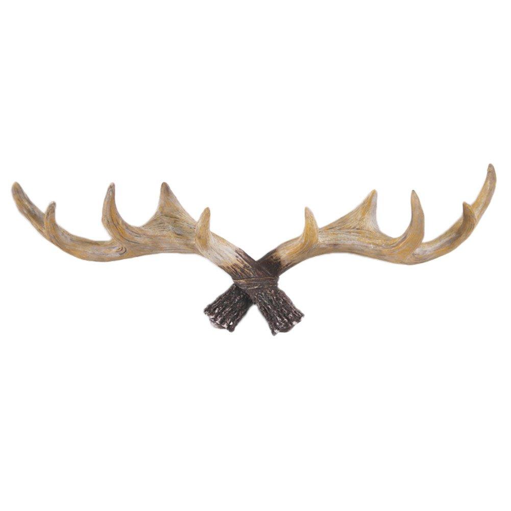 Vintage Cast Deer Antler Hat Racks Wall Mounted Retro Resin Decorative Hook for Closets