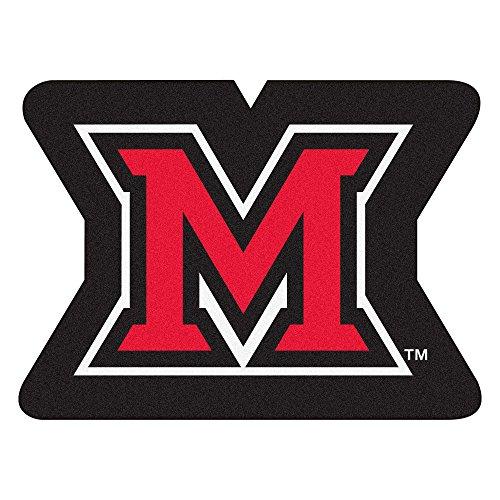 FANMATS NCAA Miami University RedHawks Nylon Face Mascot Rug
