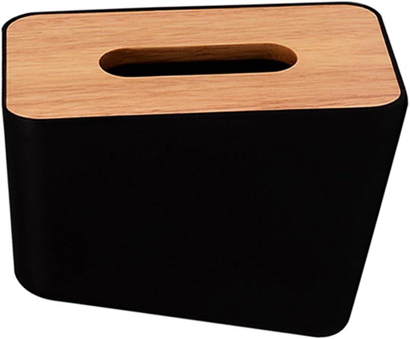 18x12x12cm Papier Serviettenhalter Serviettenst/änder aus Holz f/ür K/üche oder Esstisch Schwarz